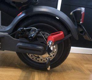 Bremsscheibenschloss am E Scooter